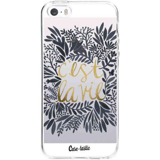 Casetastic Softcover Apple iPhone 5 / 5s / SE - Cest La Vie BlackGold