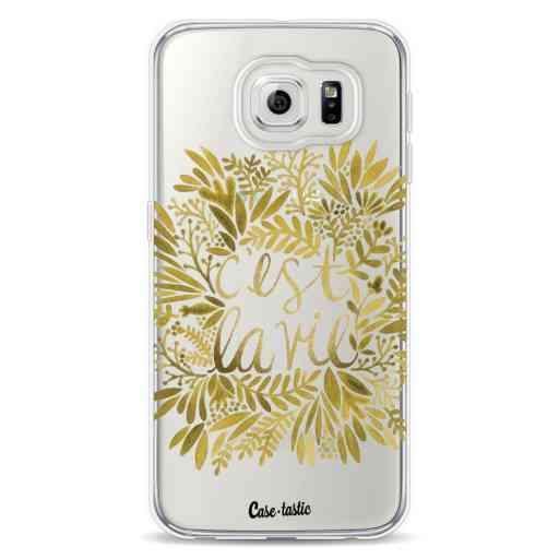 Casetastic Softcover Samsung Galaxy S6 - Cest La Vie Gold