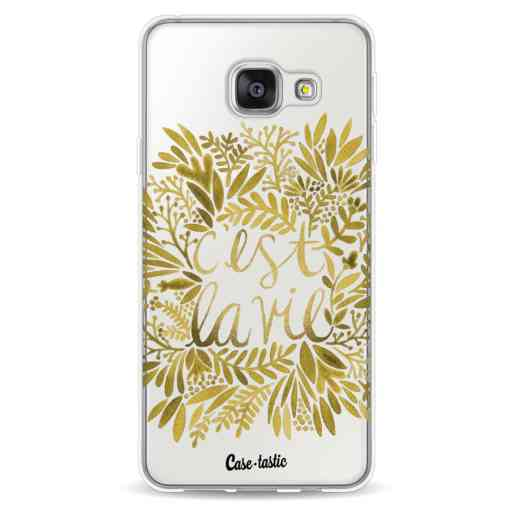 Casetastic Softcover Samsung Galaxy A3 (2016) - Cest La Vie Gold