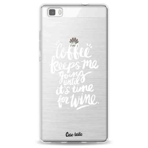 Casetastic Softcover Huawei P8 Lite (2015) - Coffee Wine White Transparent