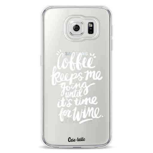 Casetastic Softcover Samsung Galaxy S6 - Coffee Wine White Transparent