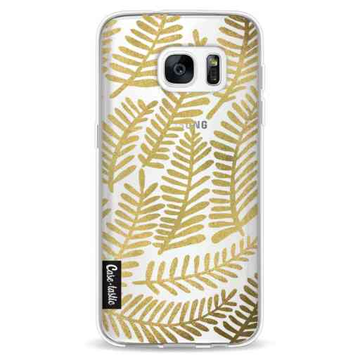 Casetastic Softcover Samsung Galaxy S7 - Gold Fronds