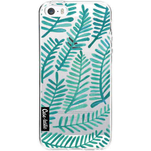 Casetastic Softcover Apple iPhone 5 / 5s / SE - Turquoise Fronds