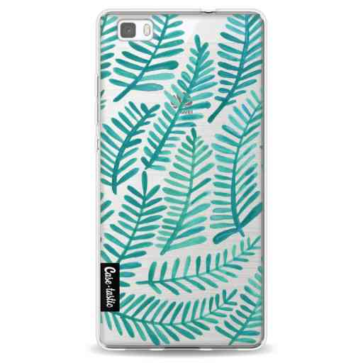 Casetastic Softcover Huawei P8 Lite (2015) - Turquoise Fronds