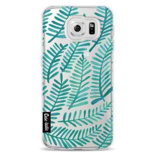 Casetastic Softcover Samsung Galaxy S6 - Turquoise Fronds