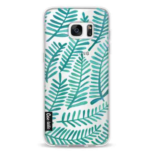Casetastic Softcover Samsung Galaxy S7 Edge - Turquoise Fronds
