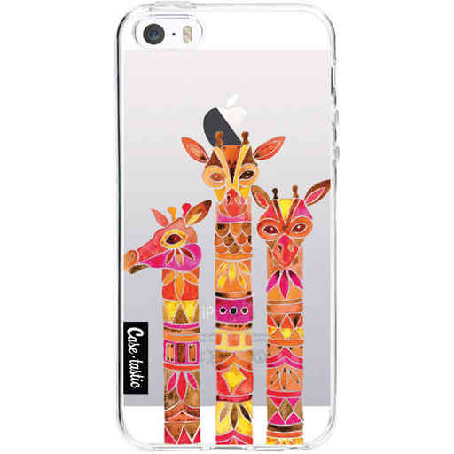 Casetastic Softcover Apple iPhone 5 / 5s / SE - Fiery Giraffes