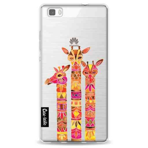 Casetastic Softcover Huawei P8 Lite - Fiery Giraffes