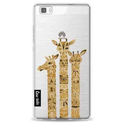 Casetastic Softcover Huawei P8 Lite (2015) - Sepia Giraffes