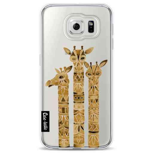 Casetastic Softcover Samsung Galaxy S6 - Sepia Giraffes