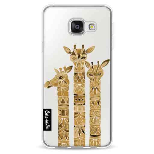 Casetastic Softcover Samsung Galaxy A3 (2016) - Sepia Giraffes