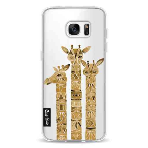 Casetastic Softcover Samsung Galaxy S7 Edge - Sepia Giraffes