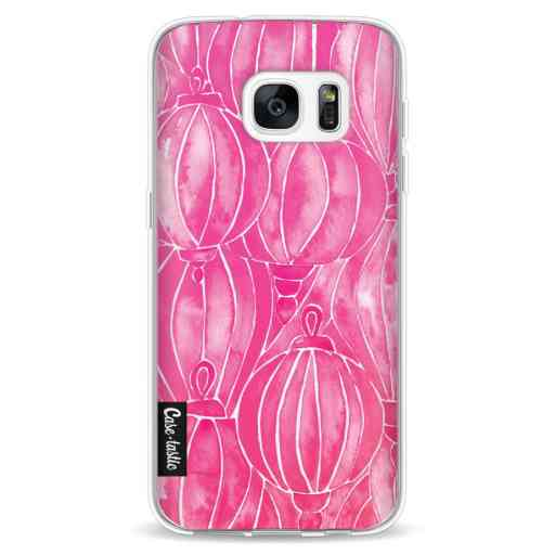 Casetastic Softcover Samsung Galaxy S7 - Pink Lanterns