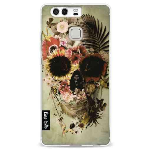 Casetastic Softcover Huawei P9 - Garden Skull Light