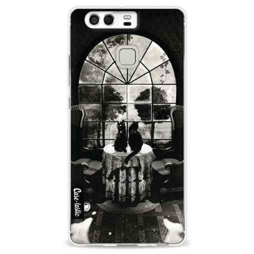 Casetastic Softcover Huawei P9 - Room Skull BW