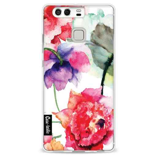 Casetastic Softcover Huawei P9 - Watercolor Flowers