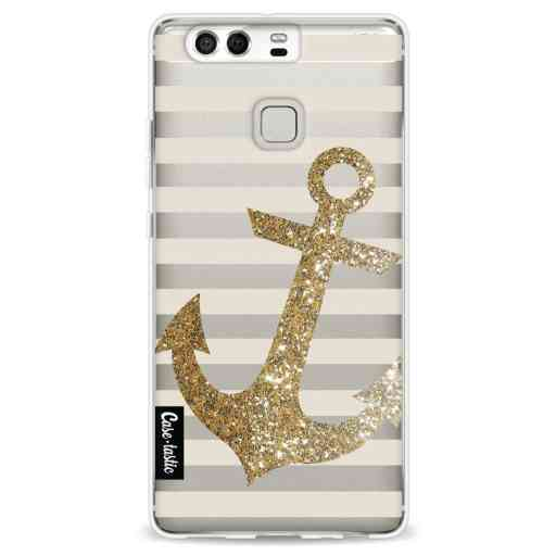 Casetastic Softcover Huawei P9 - Glitter Anchor Gold