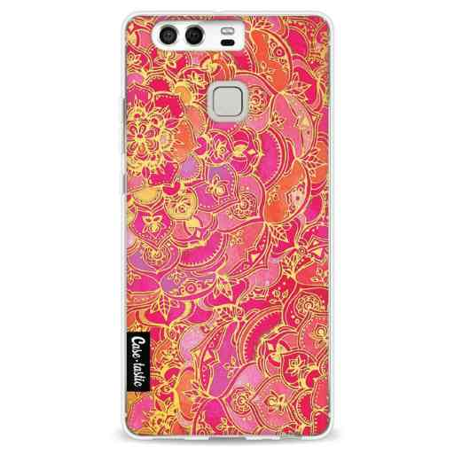 Casetastic Softcover Huawei P9 - Hot Pink Barroque