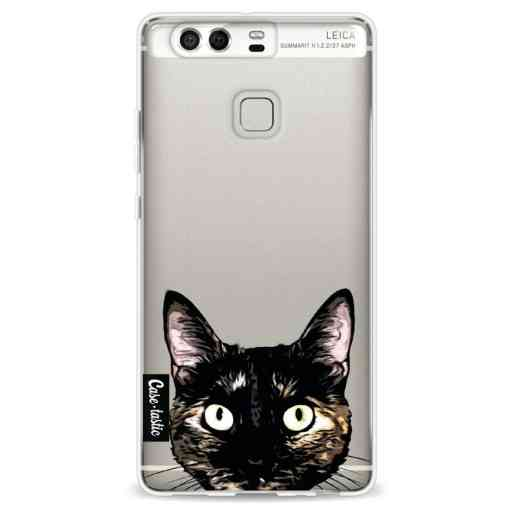 Casetastic Softcover Huawei P9 - Peeking Kitty
