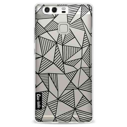 Casetastic Softcover Huawei P9 - Abstraction Lines Black Transparent