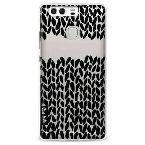 Casetastic Softcover Huawei P9 - Missing Knit Black Transparent