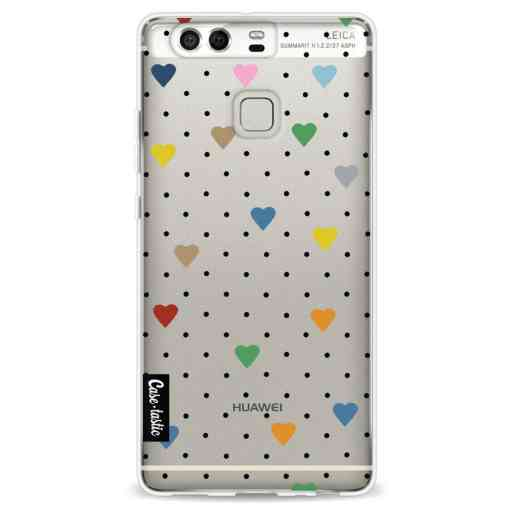 Casetastic Softcover Huawei P9 - Pin Point Hearts Transparent