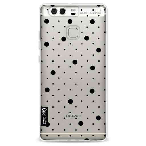 Casetastic Softcover Huawei P9 - Pin Points Polka Black Transparent