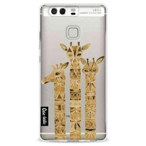 Casetastic Softcover Huawei P9 - Sepia Giraffes