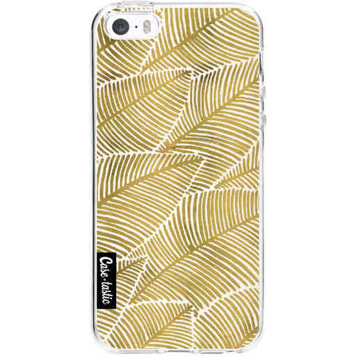 Casetastic Softcover Apple iPhone 5 / 5s / SE - Tropical Leaves Gold