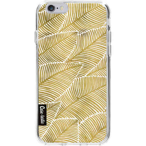Casetastic Softcover Apple iPhone 6 / 6s  - Tropical Leaves Gold