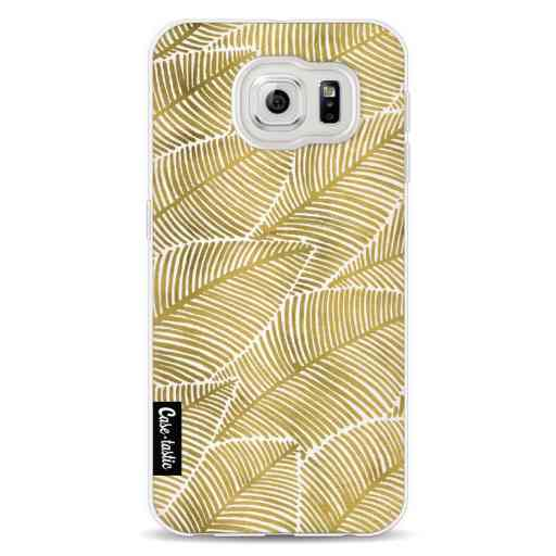 Casetastic Softcover Samsung Galaxy S6 - Tropical Leaves Gold