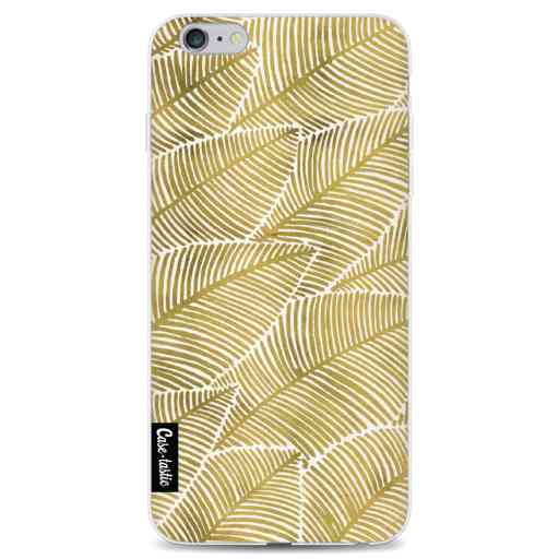 Casetastic Softcover Apple iPhone 6 Plus / 6s Plus - Tropical Leaves Gold
