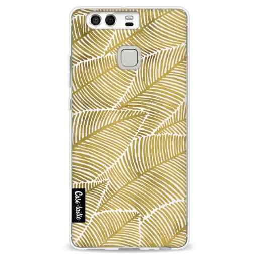 Casetastic Softcover Huawei P9 - Tropical Leaves Gold