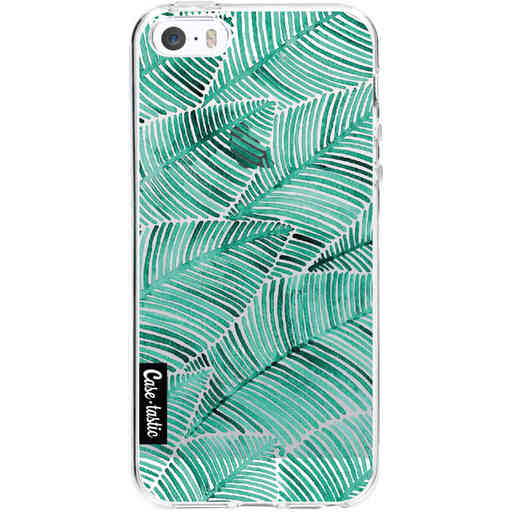 Casetastic Softcover Apple iPhone 5 / 5s / SE - Tropical Leaves Turquoise