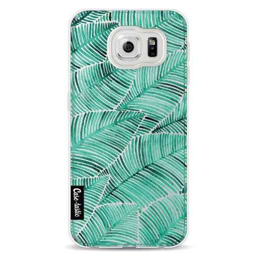 Casetastic Softcover Samsung Galaxy S6 - Tropical Leaves Turquoise