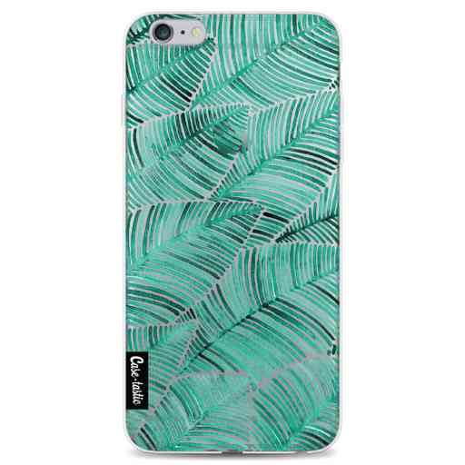 Casetastic Softcover Apple iPhone 6 Plus / 6s Plus - Tropical Leaves Turquoise