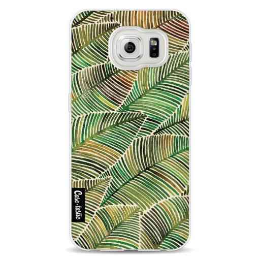 Casetastic Softcover Samsung Galaxy S6 - Tropical Leaves Yellow
