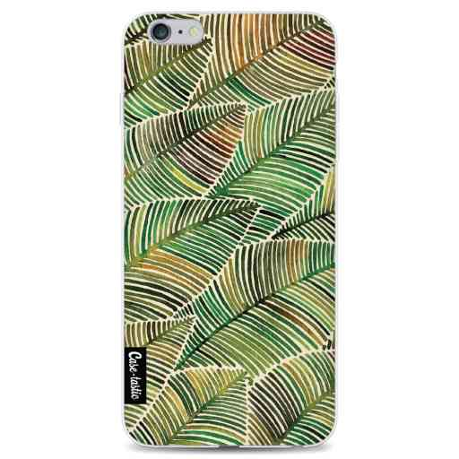 Casetastic Softcover Apple iPhone 6 Plus / 6s Plus - Tropical Leaves Yellow
