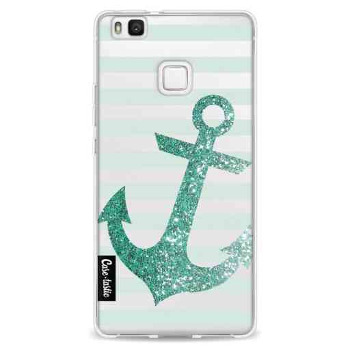 Casetastic Softcover Huawei P9 Lite - Glitter Anchor Mint