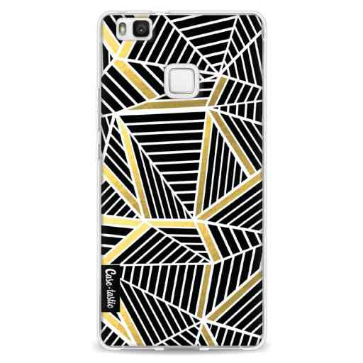 Casetastic Softcover Huawei P9 Lite - Abstraction Lines Black Gold