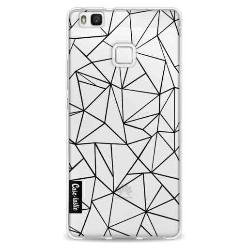 Casetastic Softcover Huawei P9 Lite - Abstraction Outline Black Transparent