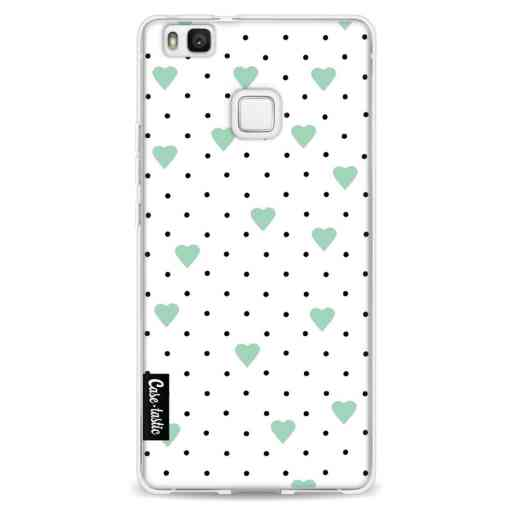 Casetastic Softcover Huawei P9 Lite - Pin Point Hearts Mint