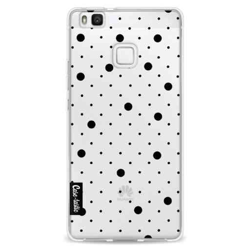 Casetastic Softcover Huawei P9 Lite - Pin Points Polka Black Transparent