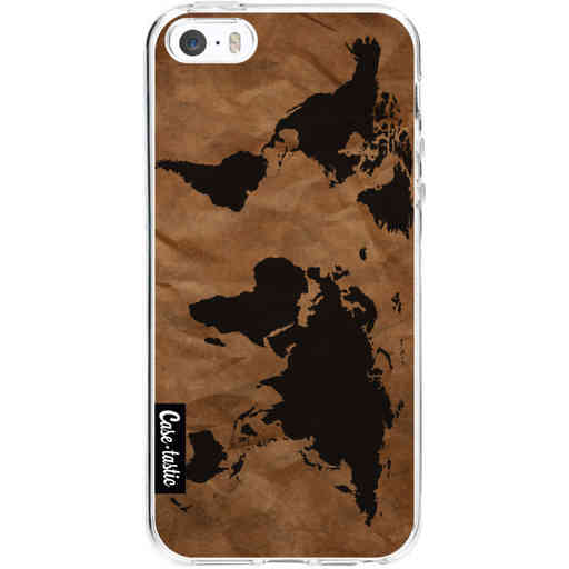 Casetastic Softcover Apple iPhone 5 / 5s / SE - World Map