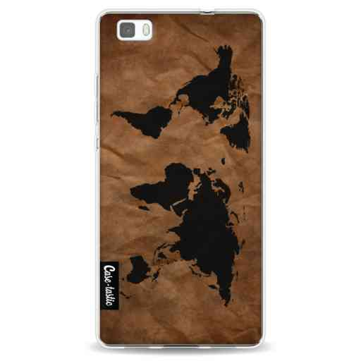 Casetastic Softcover Huawei P8 Lite - World Map