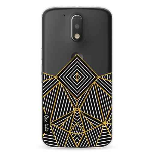Casetastic Softcover Motorola Moto G4 / G4 Plus - Abstraction Half Transparent