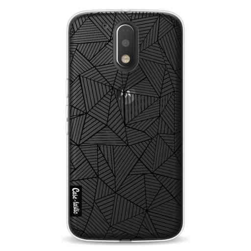 Casetastic Softcover Motorola Moto G4 / G4 Plus - Abstraction Lines Transparent