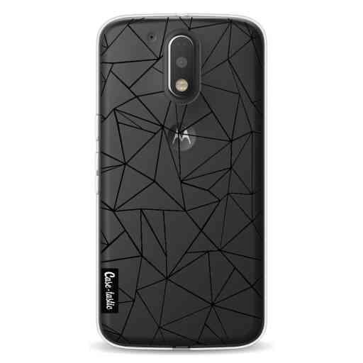 Casetastic Softcover Motorola Moto G4 / G4 Plus - Abstraction Outline Black Transparent