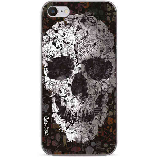 Casetastic Softcover Apple iPhone 7 / 8 / SE (2020) - Doodle Skull BW