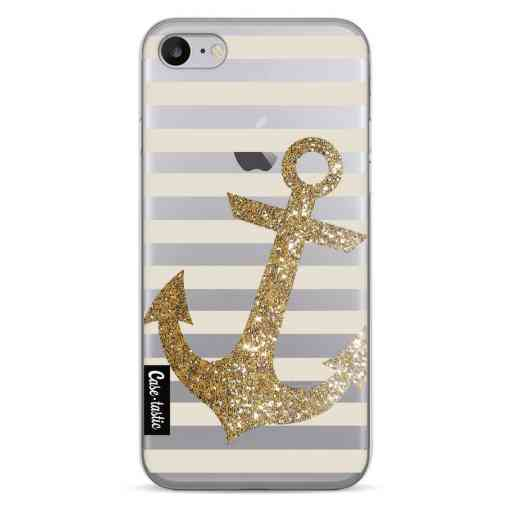 Casetastic Softcover Apple iPhone 7 / 8 / SE (2020) - Glitter Anchor Gold